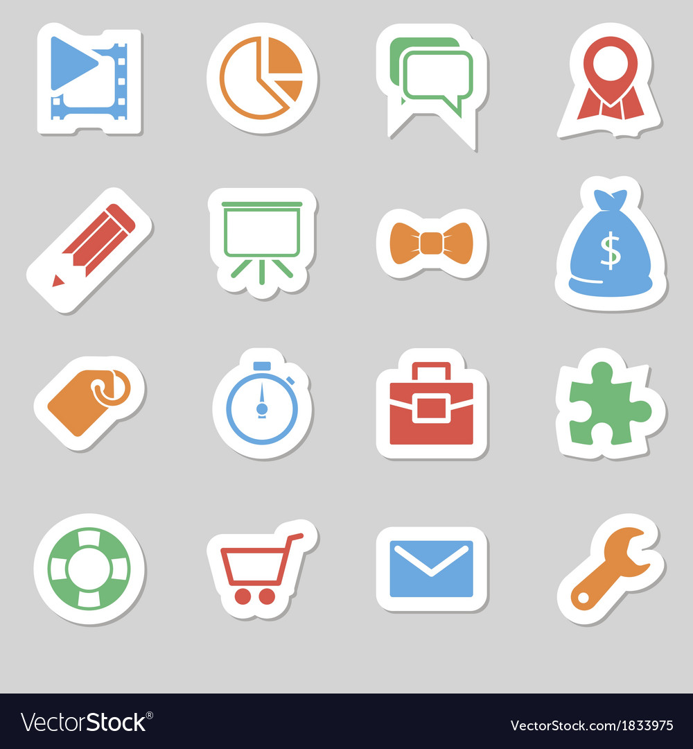 Seo icons as labes vol 2 vector | Price: 1 Credit (USD $1)