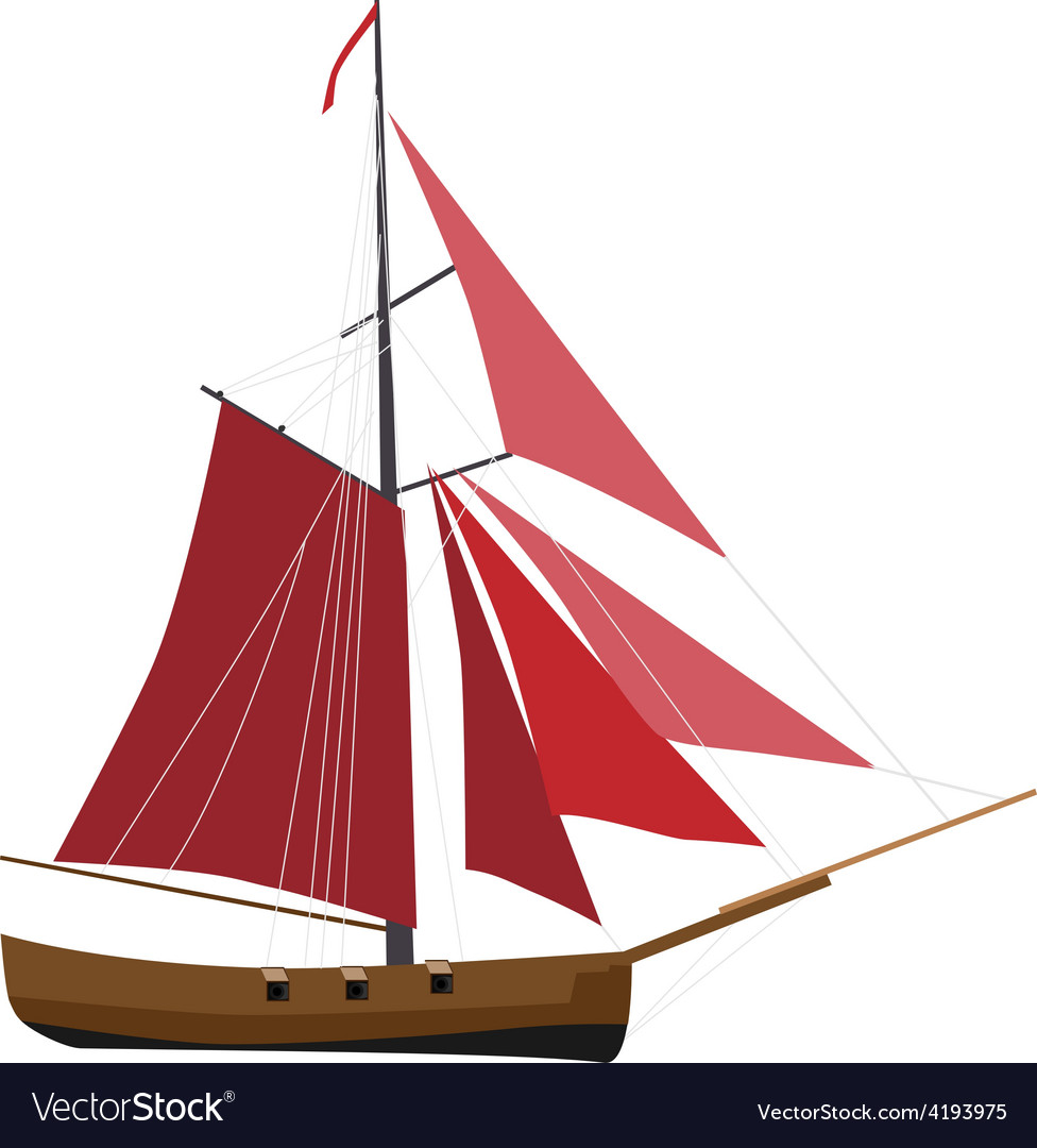 Sloop ship vector | Price: 1 Credit (USD $1)