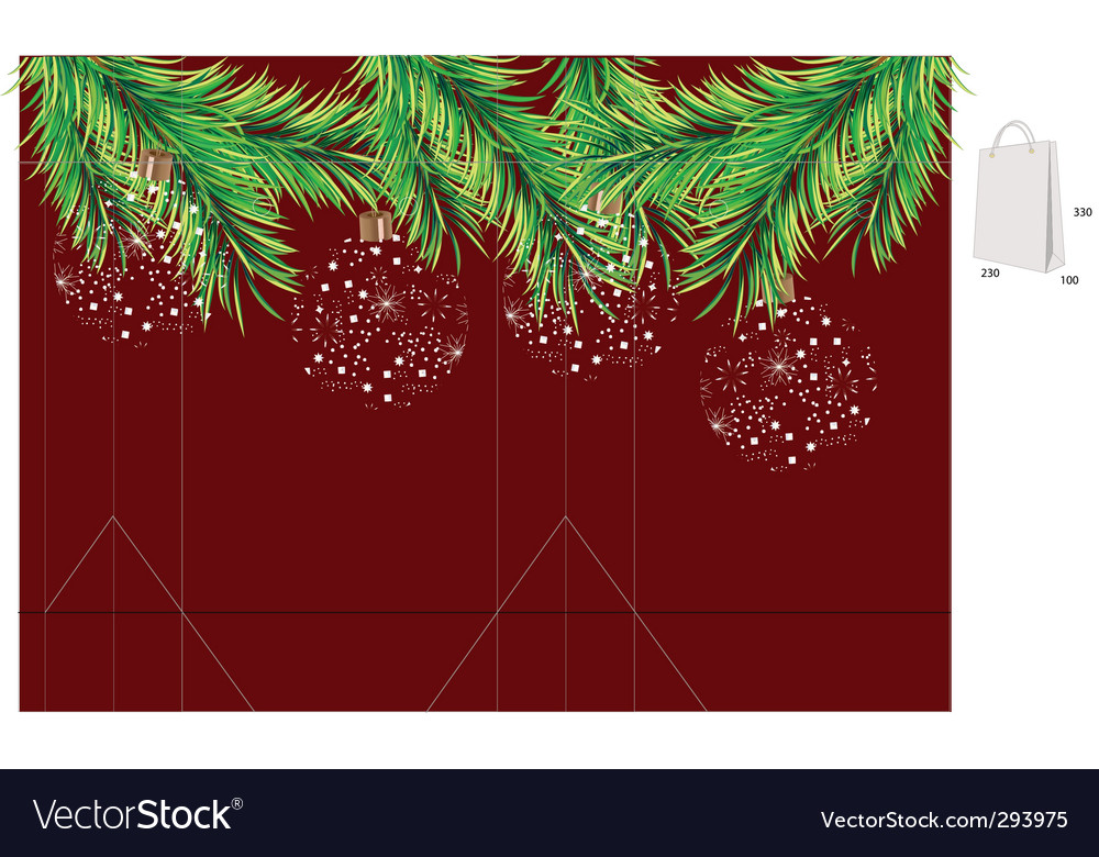 Template for christmas bag vector | Price: 1 Credit (USD $1)