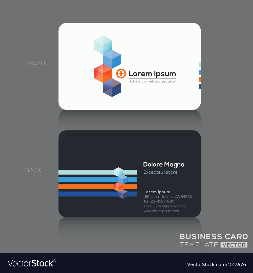 Business cards design template vector | Price: 1 Credit (USD $1)