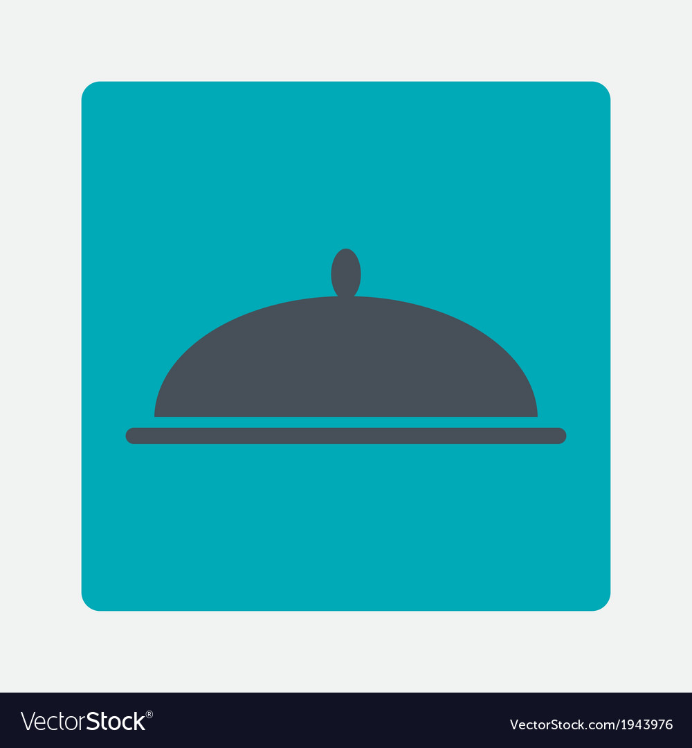 Covered dish icon vector | Price: 1 Credit (USD $1)