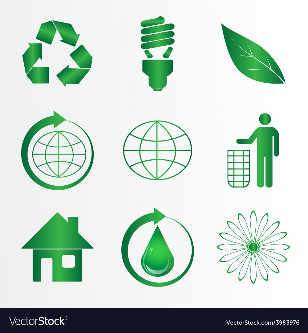 Eco icons pack vector | Price: 1 Credit (USD $1)