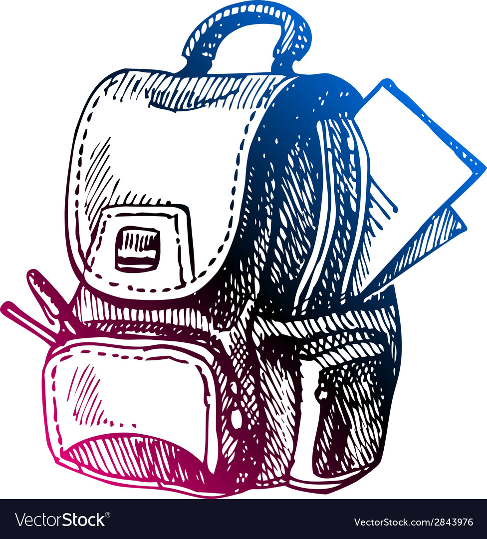 Hand drawn back to school sketch vector | Price: 1 Credit (USD $1)