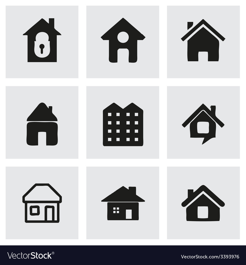House icons set vector | Price: 1 Credit (USD $1)