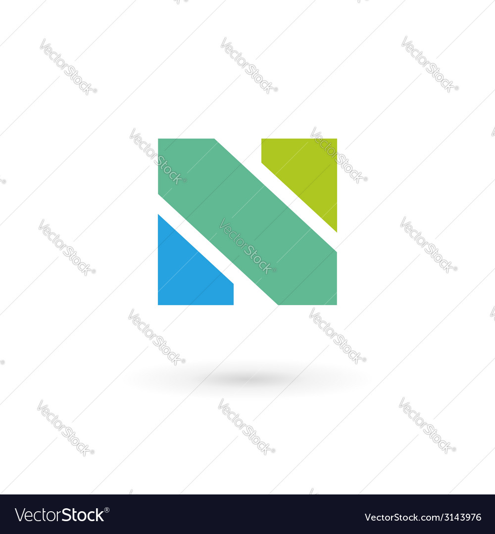 Letter n logo icon design template elements vector | Price: 1 Credit (USD $1)