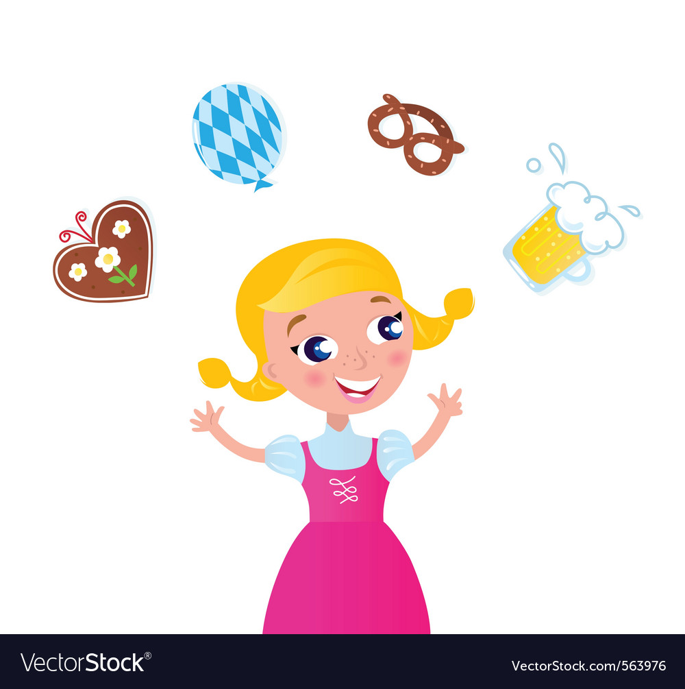 Octoberfest bavarian girl vector | Price: 1 Credit (USD $1)