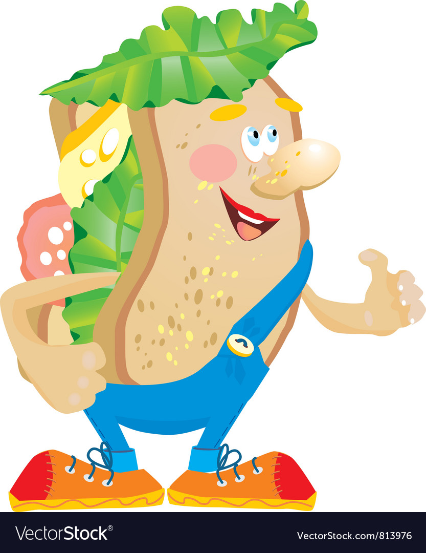 Sandwich cartoon vector | Price: 3 Credit (USD $3)
