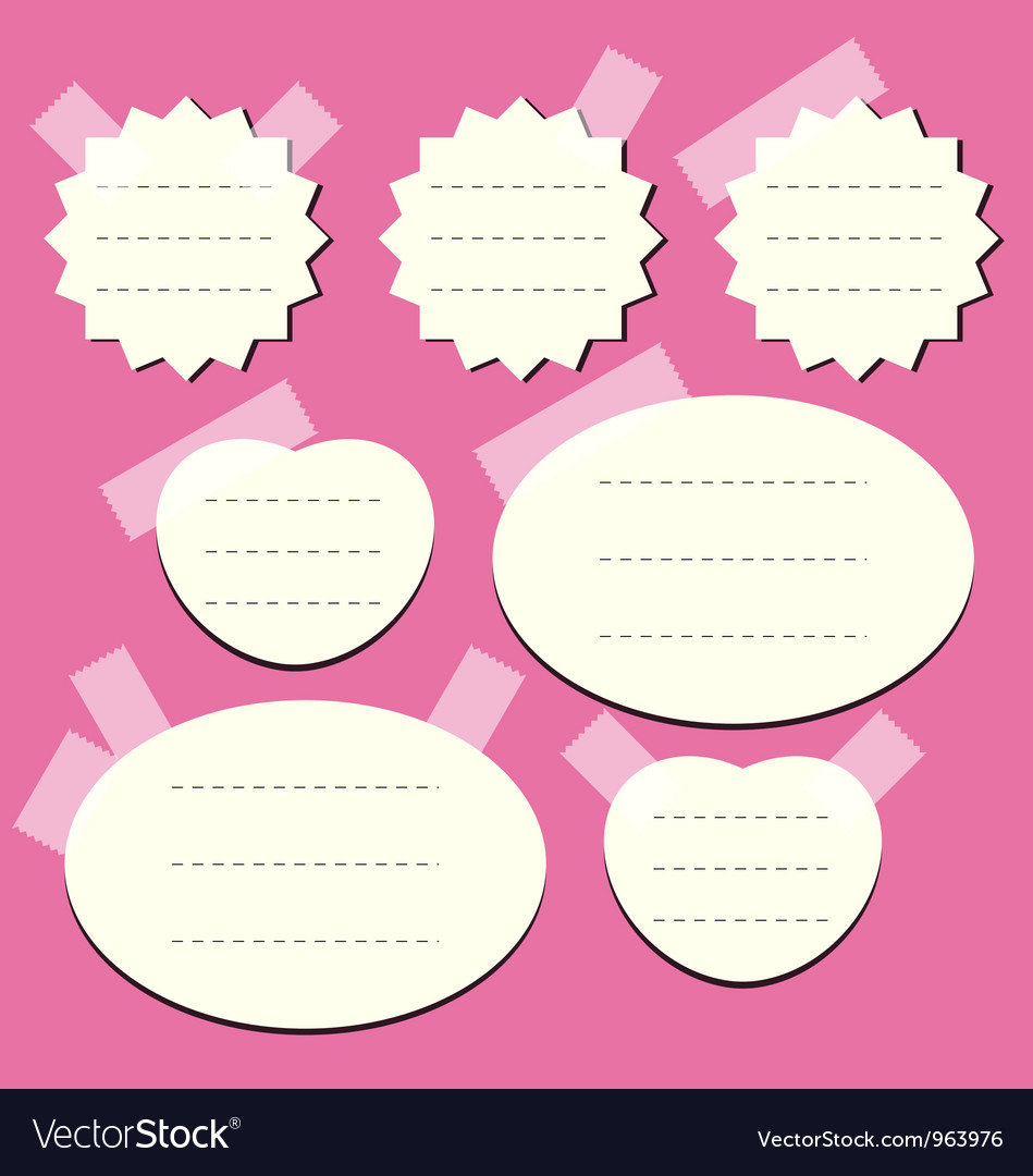 Set of paper notes vector | Price: 1 Credit (USD $1)