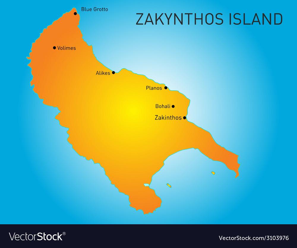 Zakynthos vector | Price: 1 Credit (USD $1)