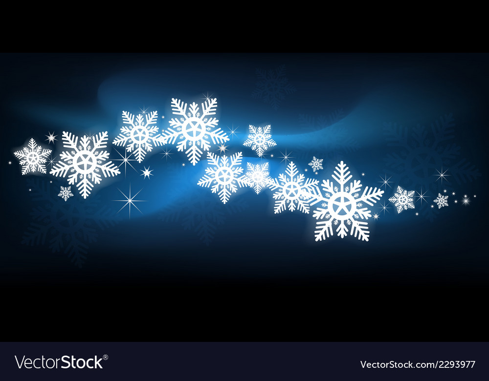 Blue snowflake christmas background vector | Price: 1 Credit (USD $1)