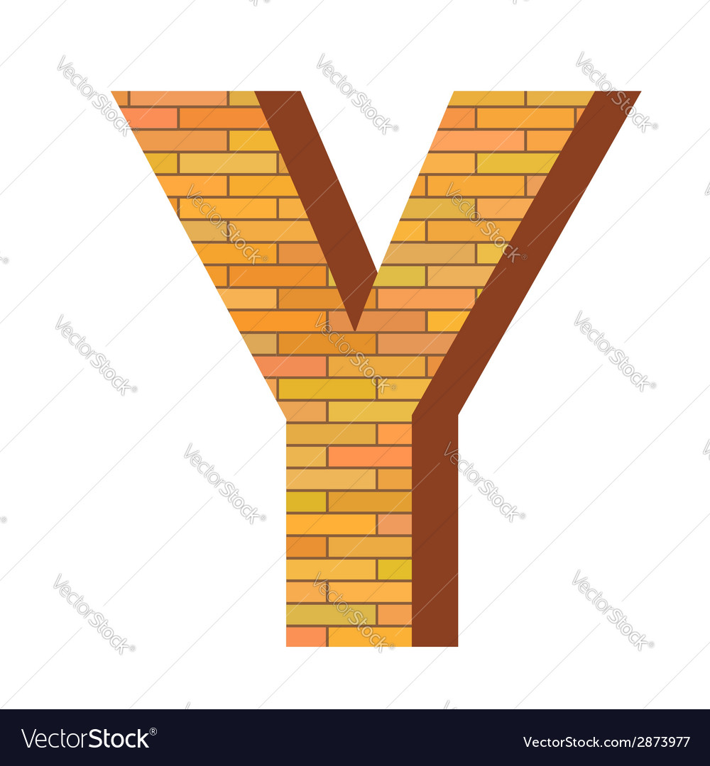 Brick letter y vector | Price: 1 Credit (USD $1)