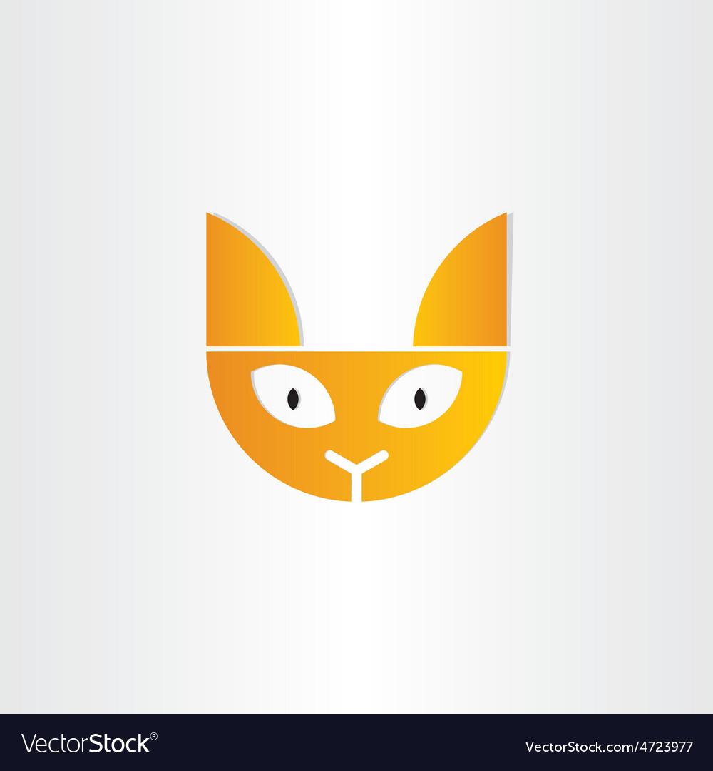 Cat head icon design vector   Price: 1 Credit (USD $1)