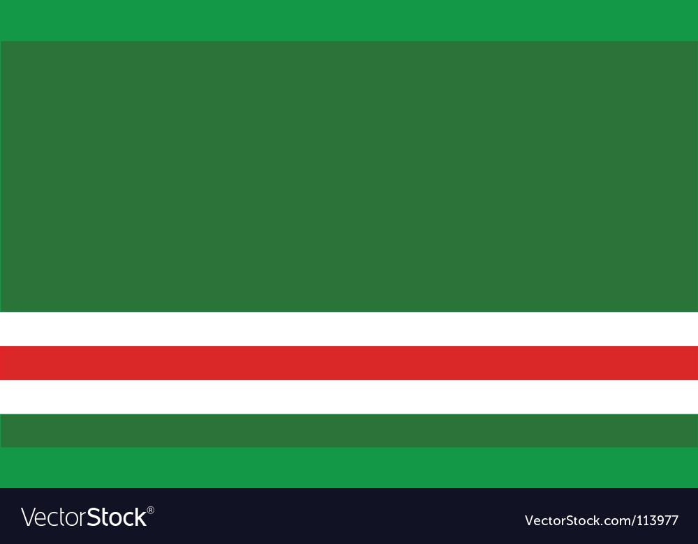 Chechen republic of ichkeria flag vector | Price: 1 Credit (USD $1)