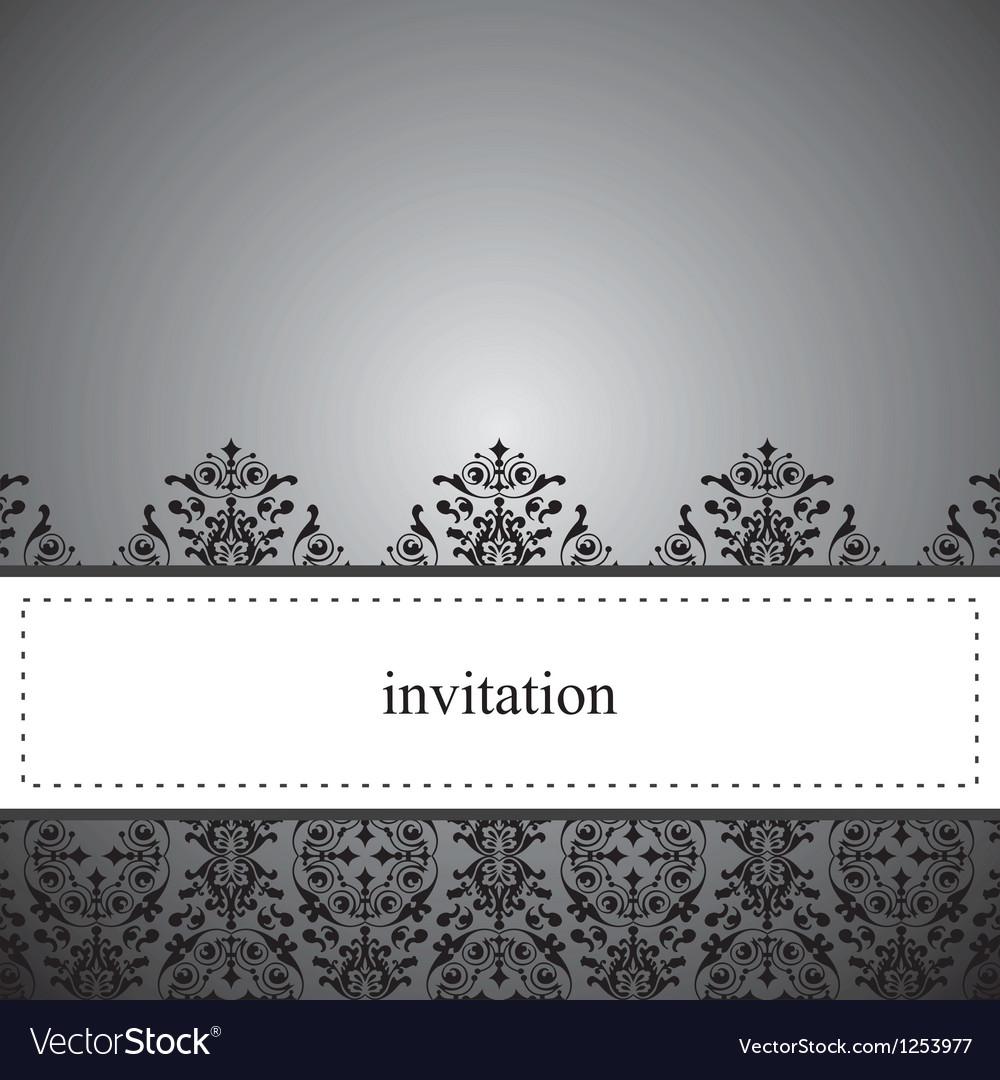 Classic elegant dark card or invitation vector | Price: 1 Credit (USD $1)