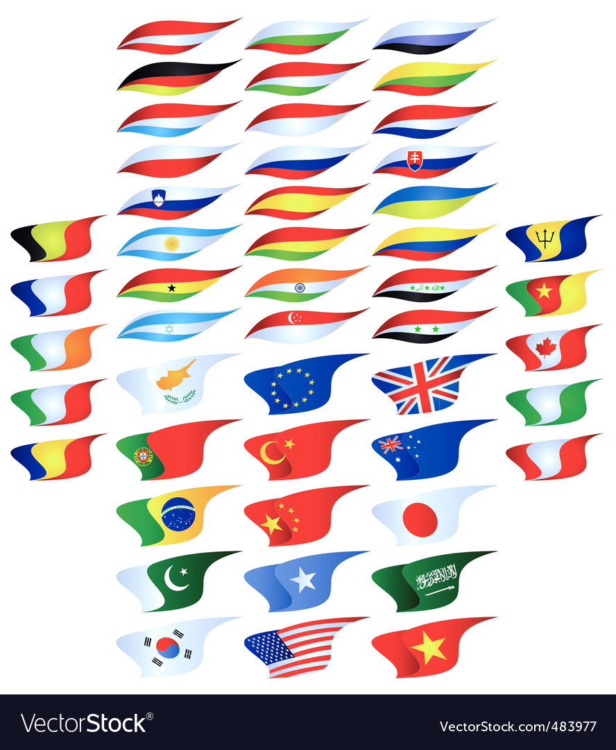 Different flags vector | Price: 1 Credit (USD $1)