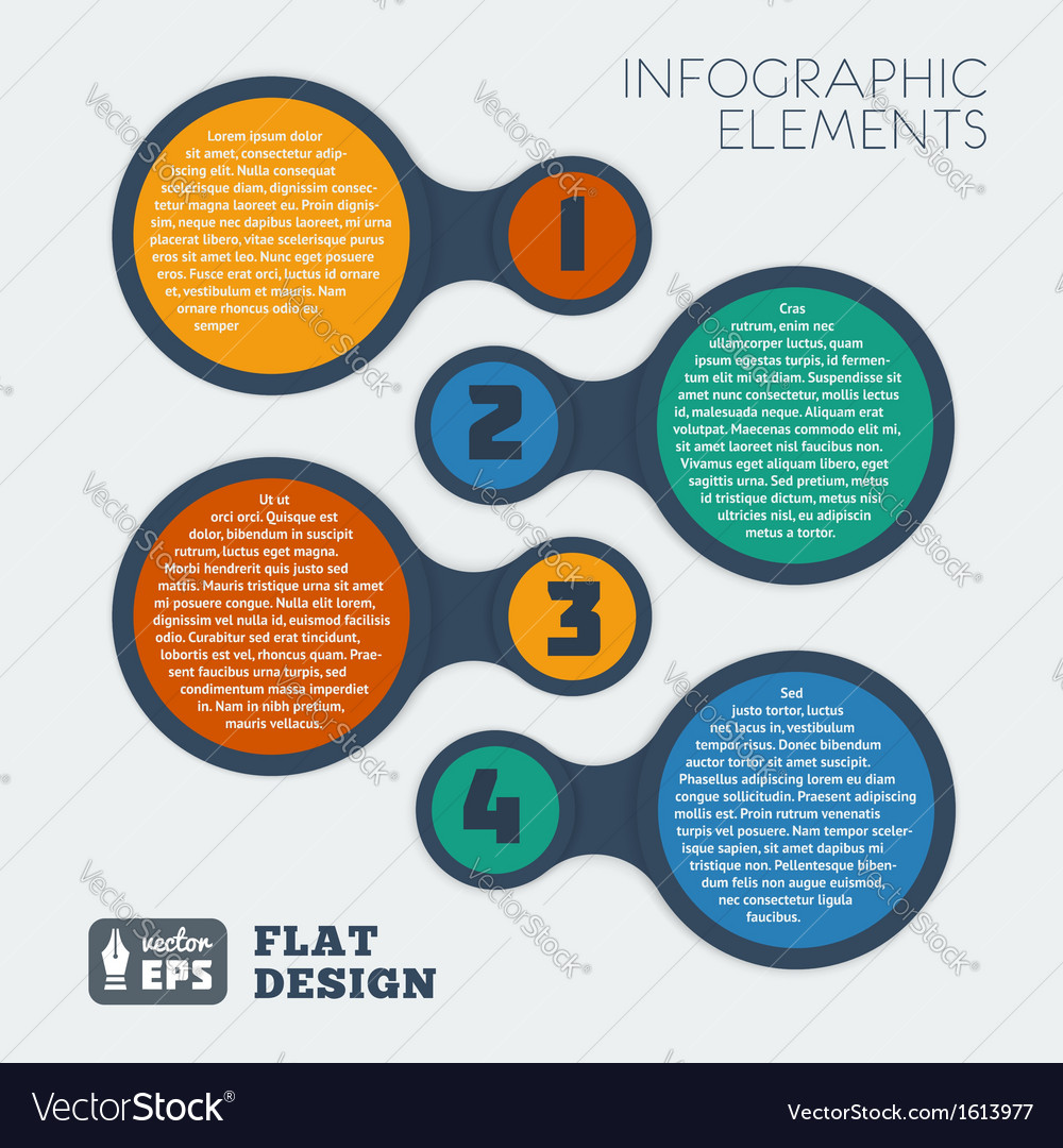 Metaball flat infographic 3 vector | Price: 1 Credit (USD $1)