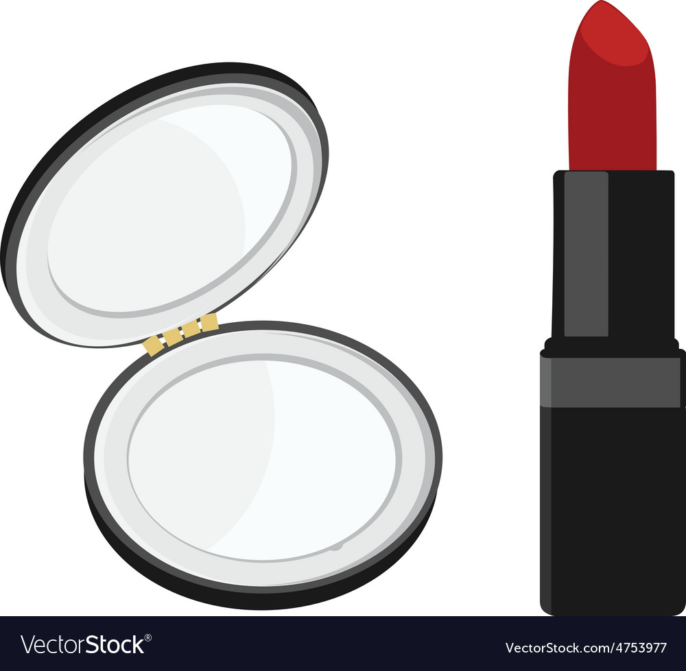 Mirror and lipstick vector | Price: 1 Credit (USD $1)