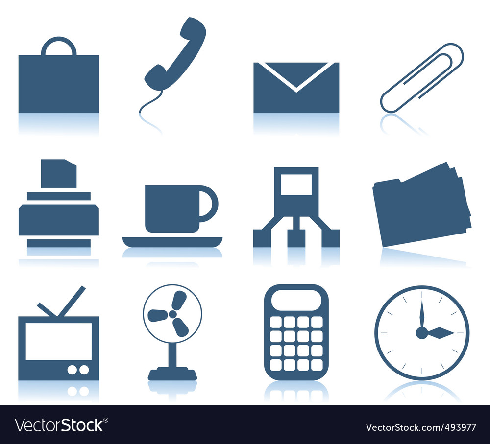 Office icons2 vector | Price: 1 Credit (USD $1)