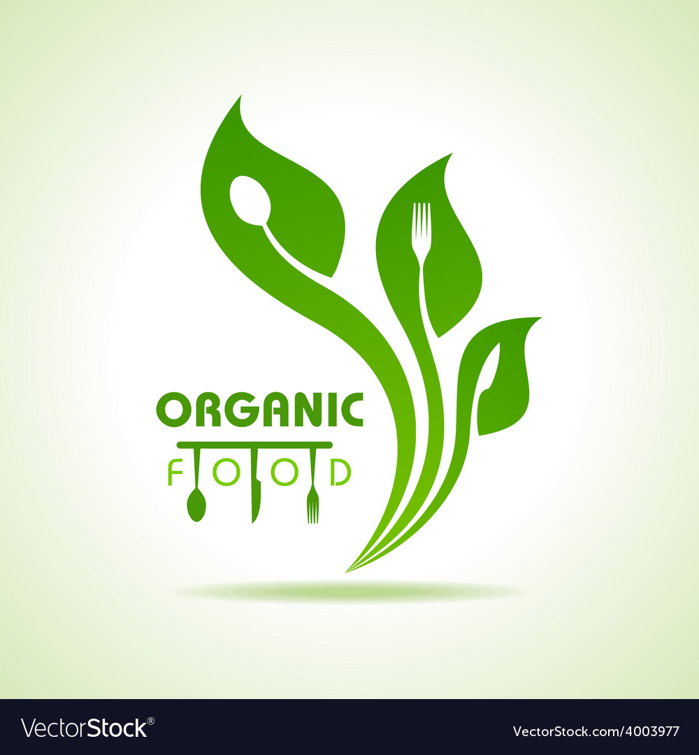 Organic food with kitchen utensils concept vector | Price: 1 Credit (USD $1)