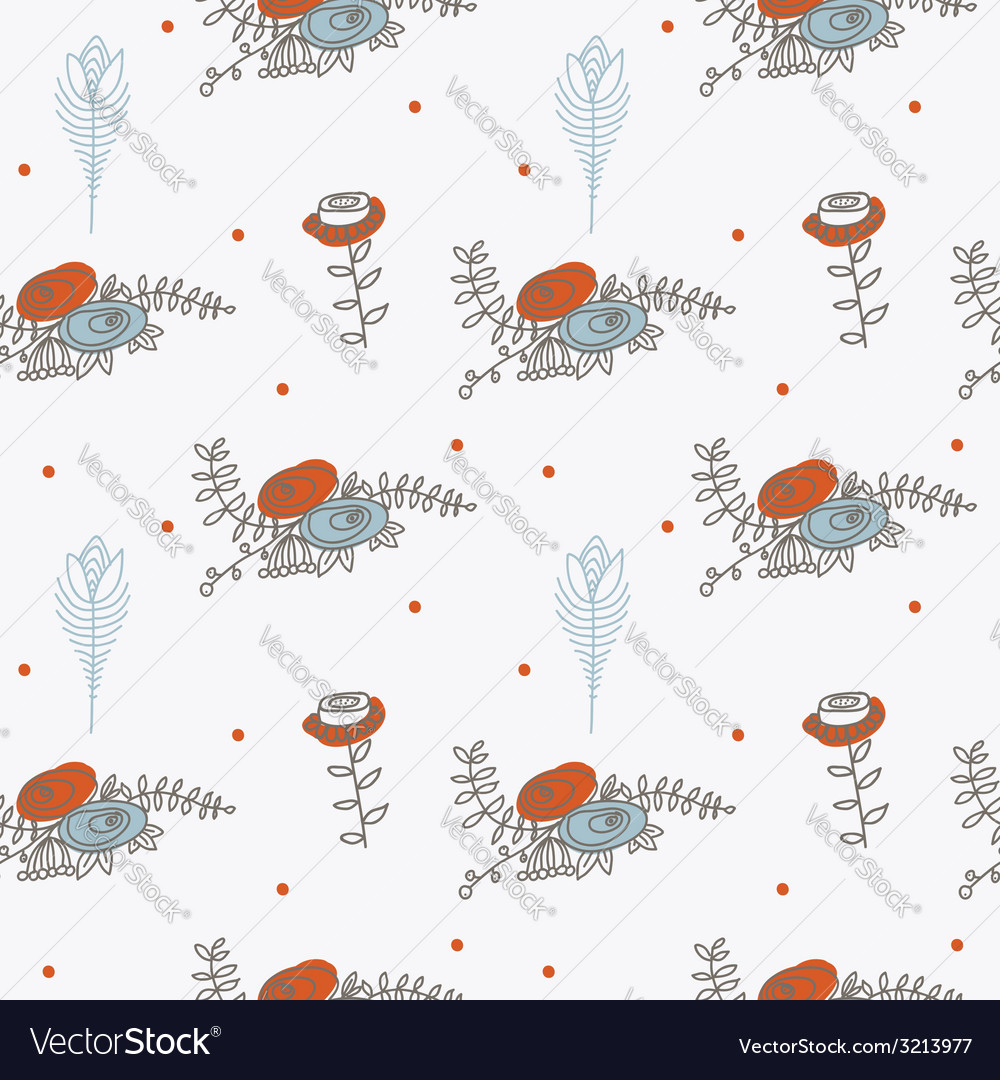 Ornament seamless of floral graphic design vector | Price: 1 Credit (USD $1)