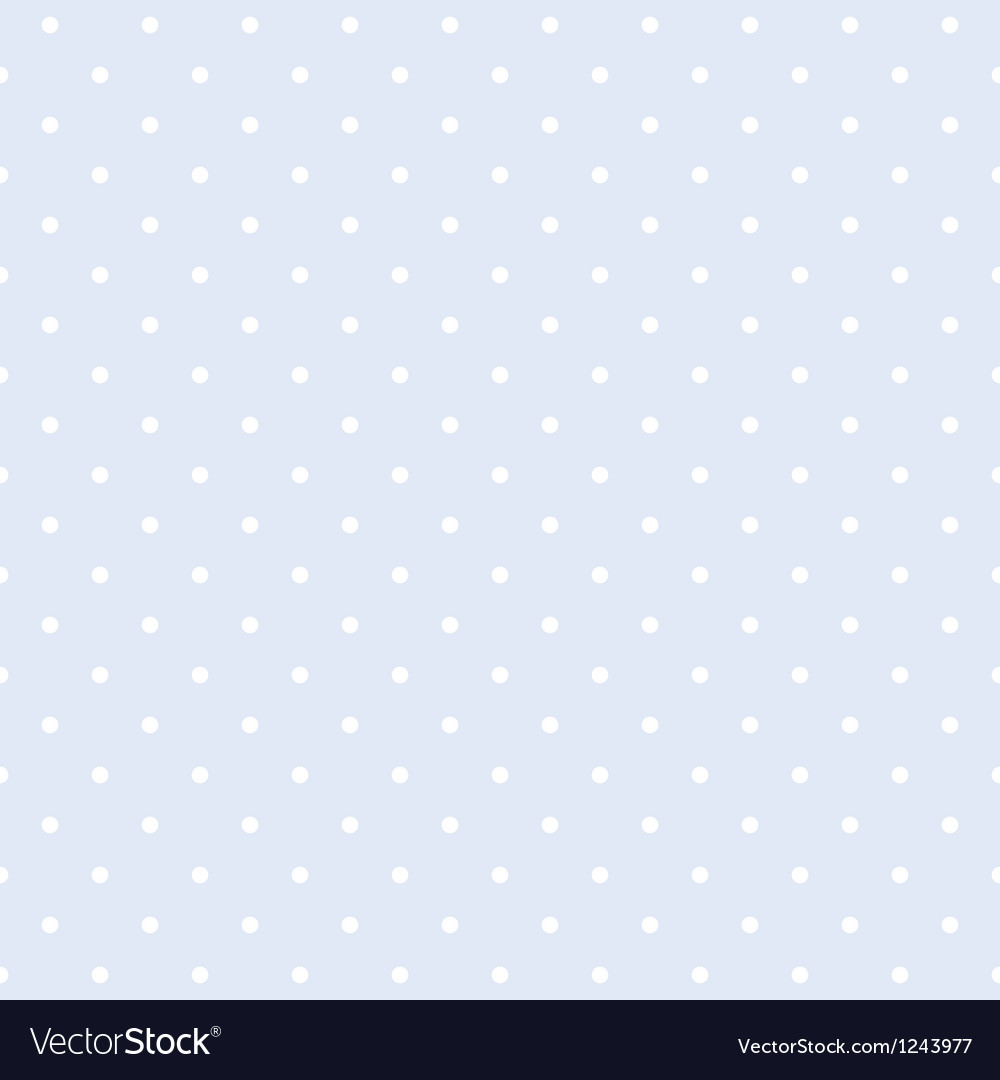 Seamless blue pattern with white polka dots vector | Price: 1 Credit (USD $1)