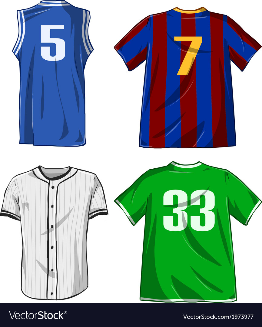 Sports shirts pack vector | Price: 1 Credit (USD $1)