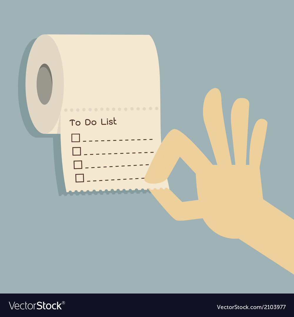 To do list on toilet paper vector | Price: 1 Credit (USD $1)