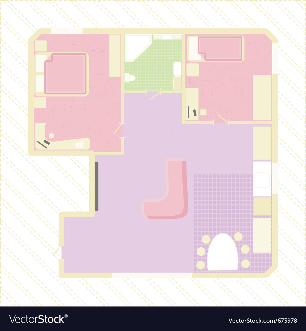 Apartment plan vector | Price: 1 Credit (USD $1)