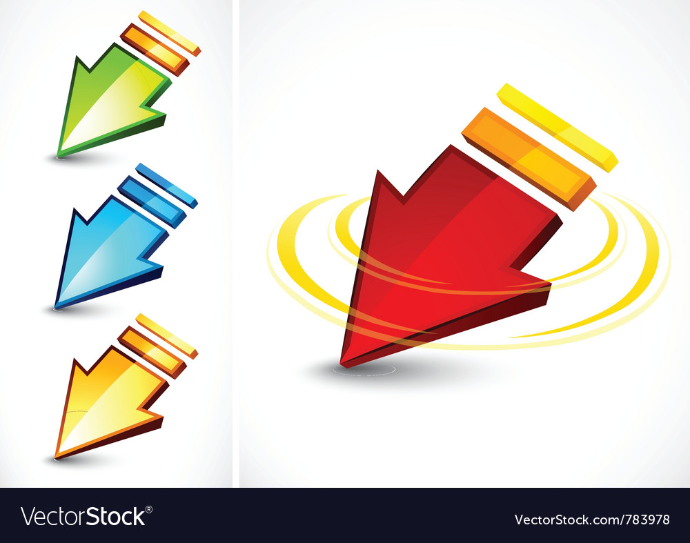 Colorful directional arrows vector | Price: 1 Credit (USD $1)