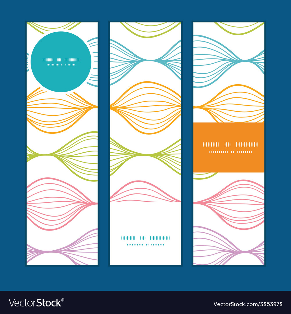 Colorful horizontal ogee vertical banners vector | Price: 1 Credit (USD $1)