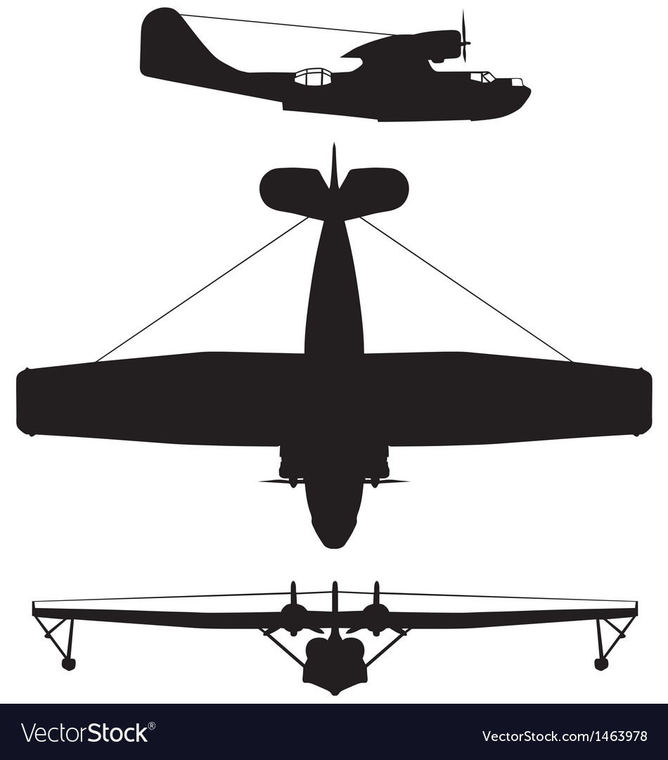 Consolidated pby5 catalina vector | Price: 1 Credit (USD $1)