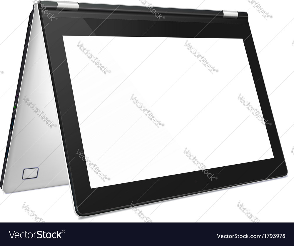 Convertible laptop with blank screen vector | Price: 1 Credit (USD $1)