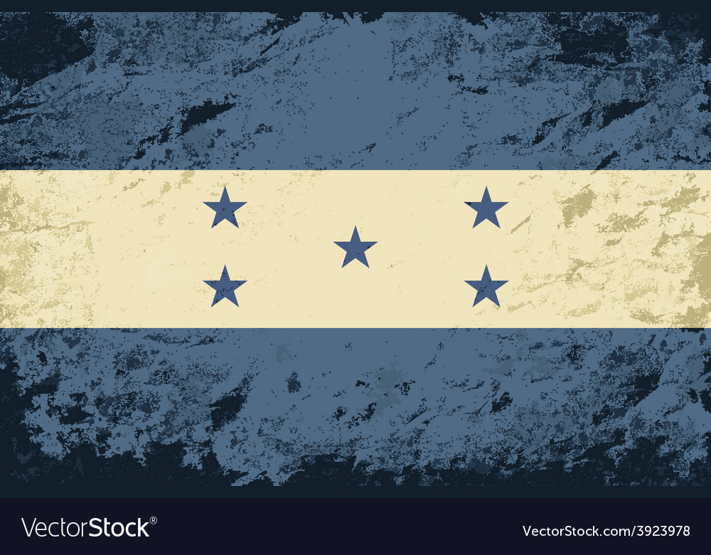 Honduras flag grunge background vector | Price: 1 Credit (USD $1)