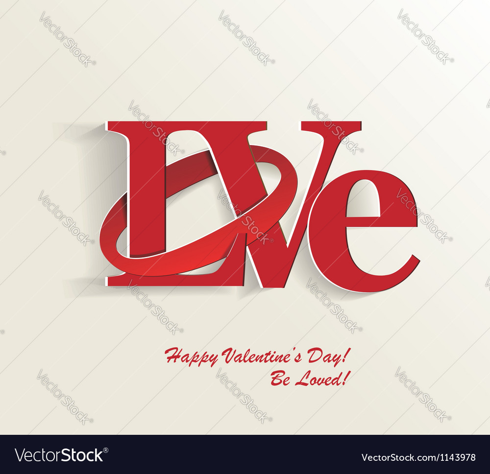 Lettering love vector | Price: 1 Credit (USD $1)