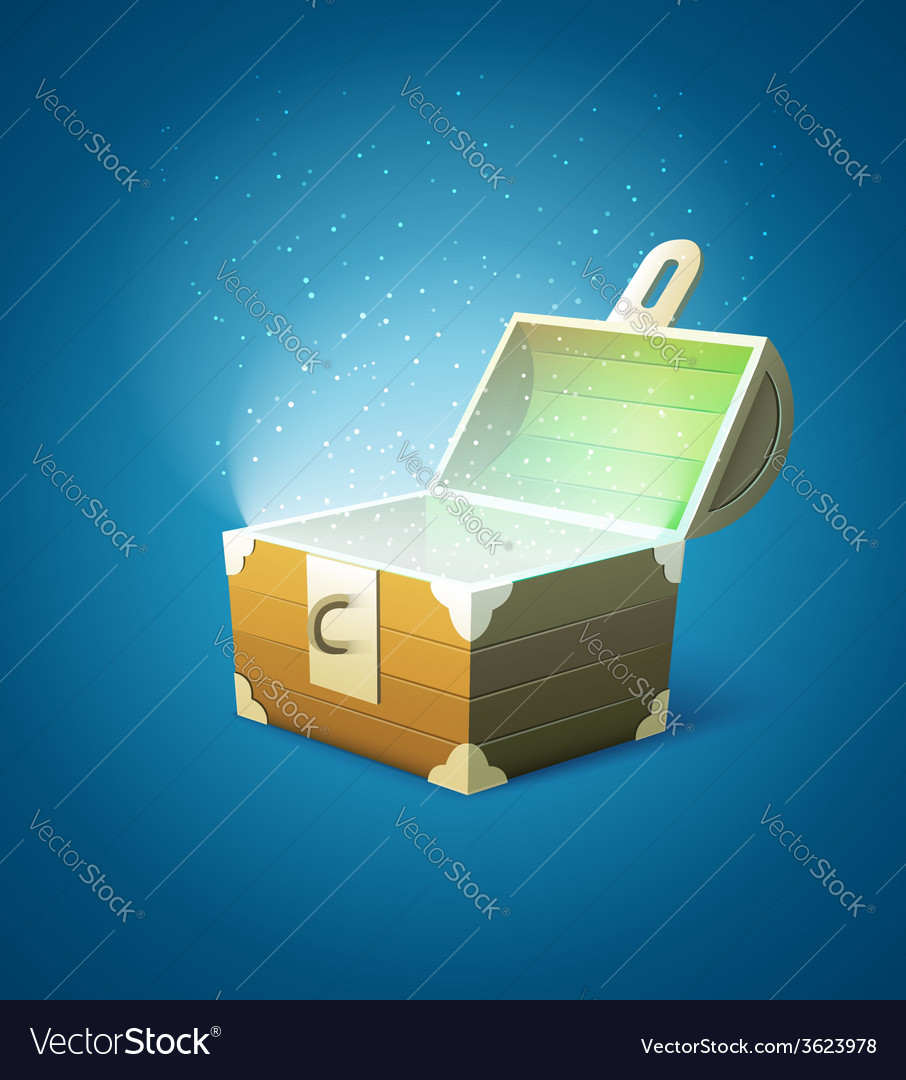 Magic fairy-tale wooden trunk vector | Price: 1 Credit (USD $1)