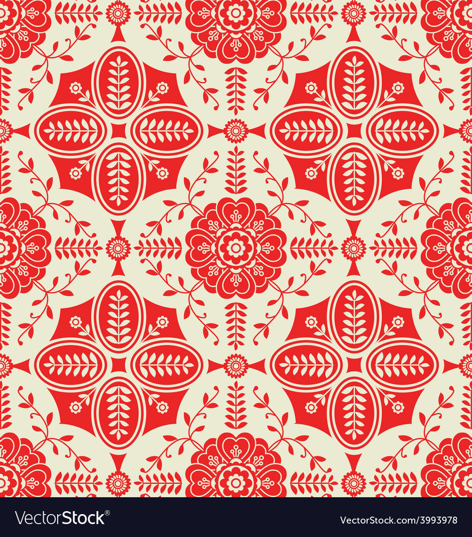 Pattern with floral ornamental vector | Price: 1 Credit (USD $1)