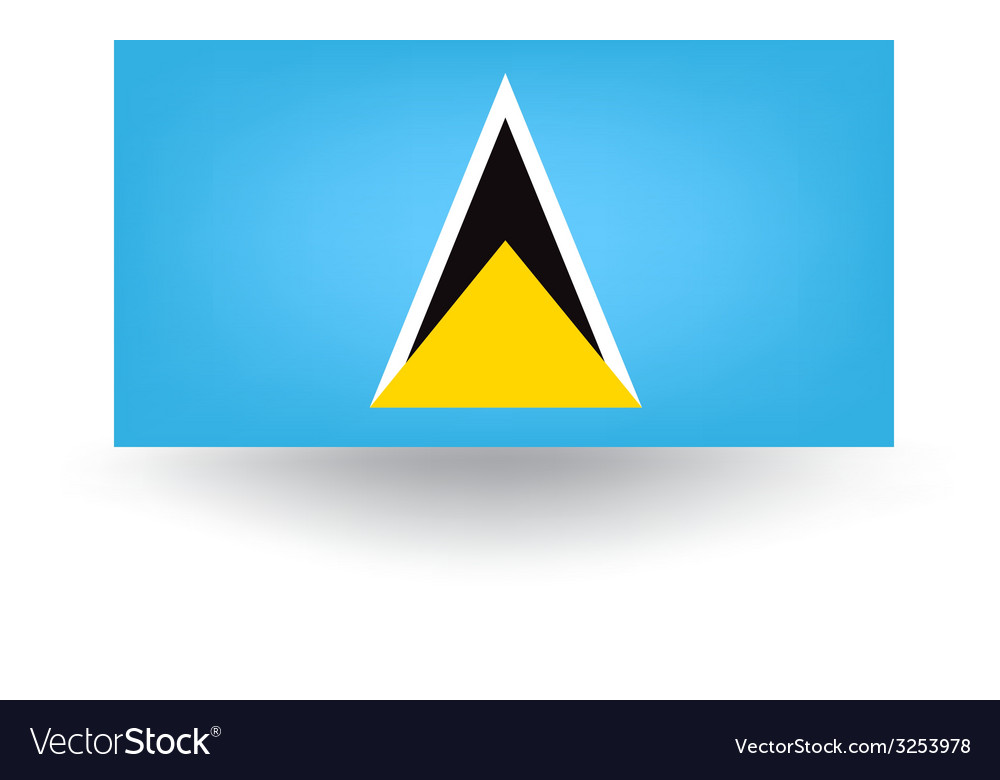 Saint lucia flag vector | Price: 1 Credit (USD $1)