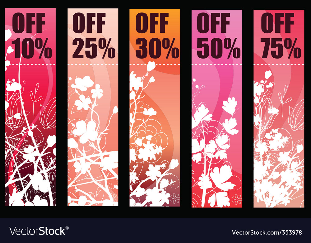 Spring banners vector | Price: 1 Credit (USD $1)