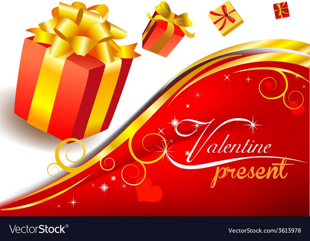 Valentines present vector | Price: 1 Credit (USD $1)