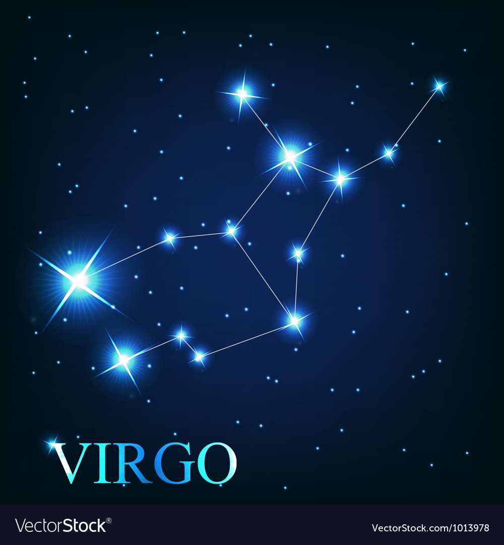 The virgo zodiac sign of the beautiful bright vector | Price: 1 Credit (USD $1)