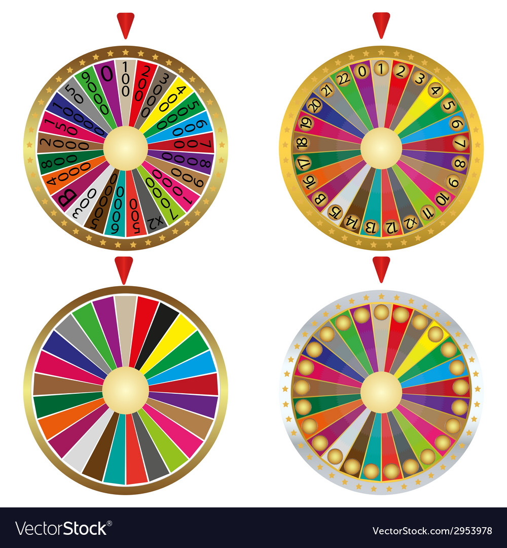 Wheel of fortune set vector | Price: 1 Credit (USD $1)