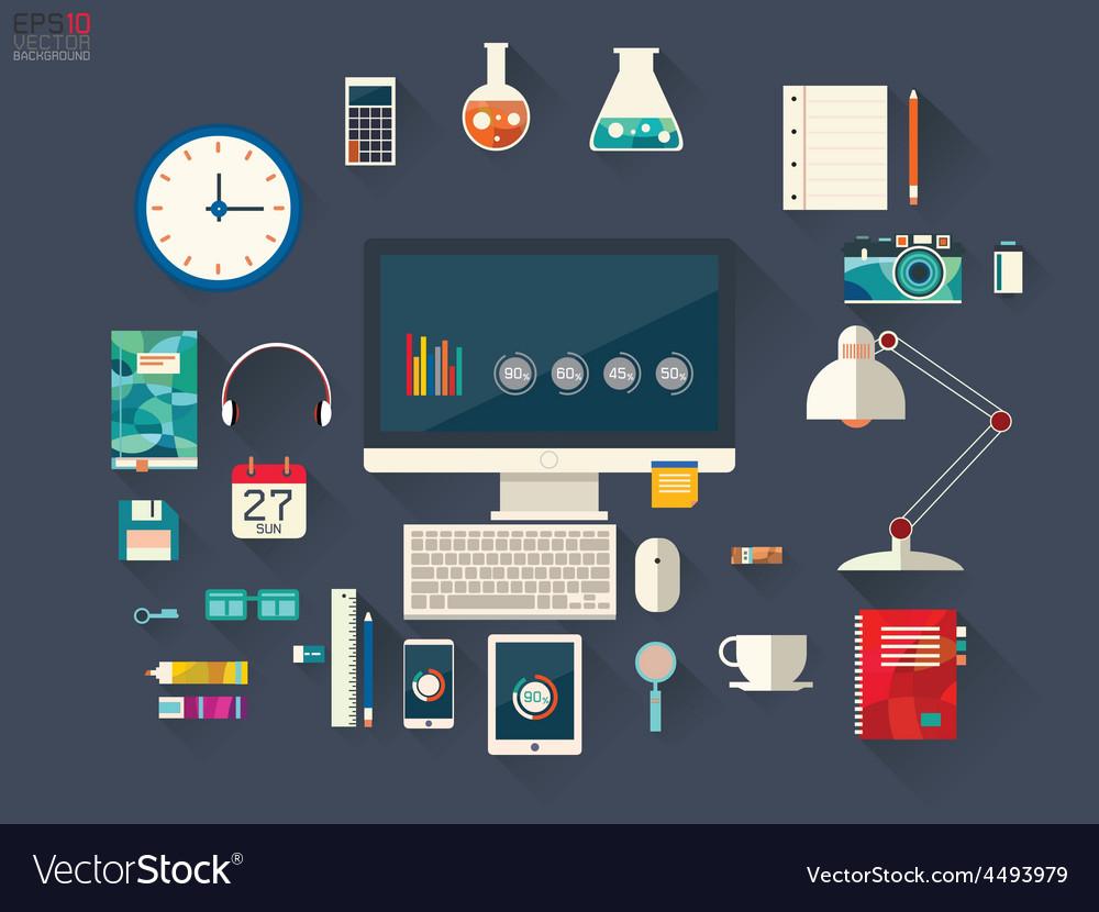 Designer desktop vector | Price: 1 Credit (USD $1)