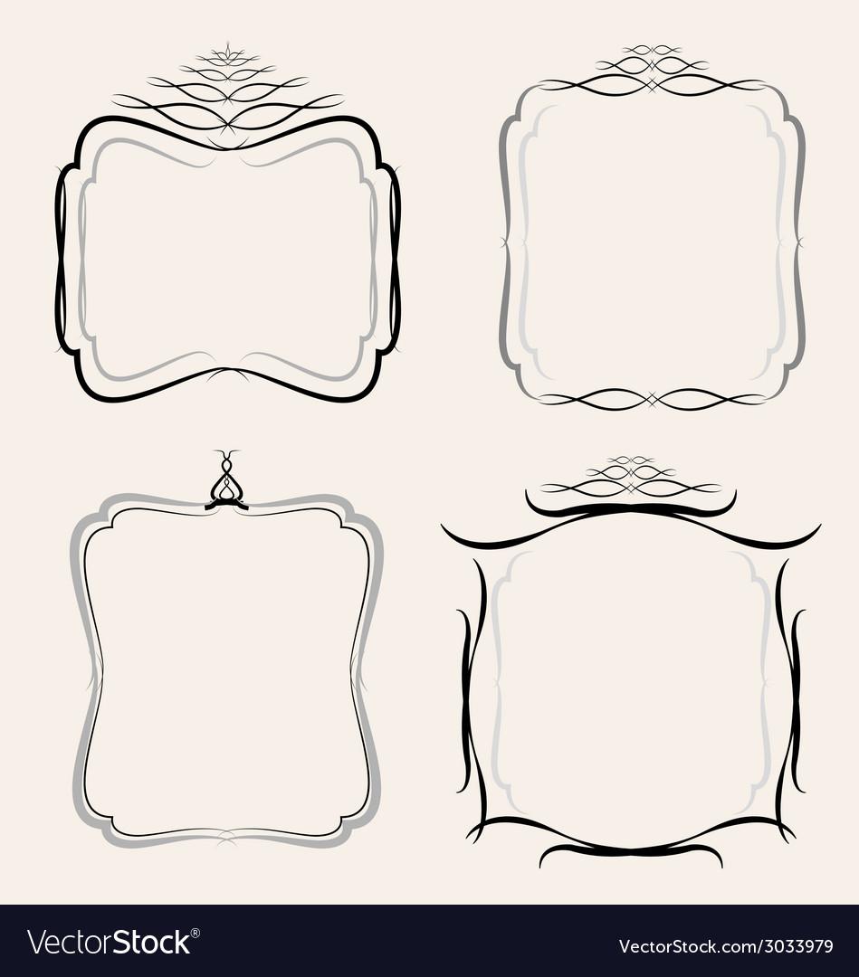 Frames borders set vector | Price: 1 Credit (USD $1)