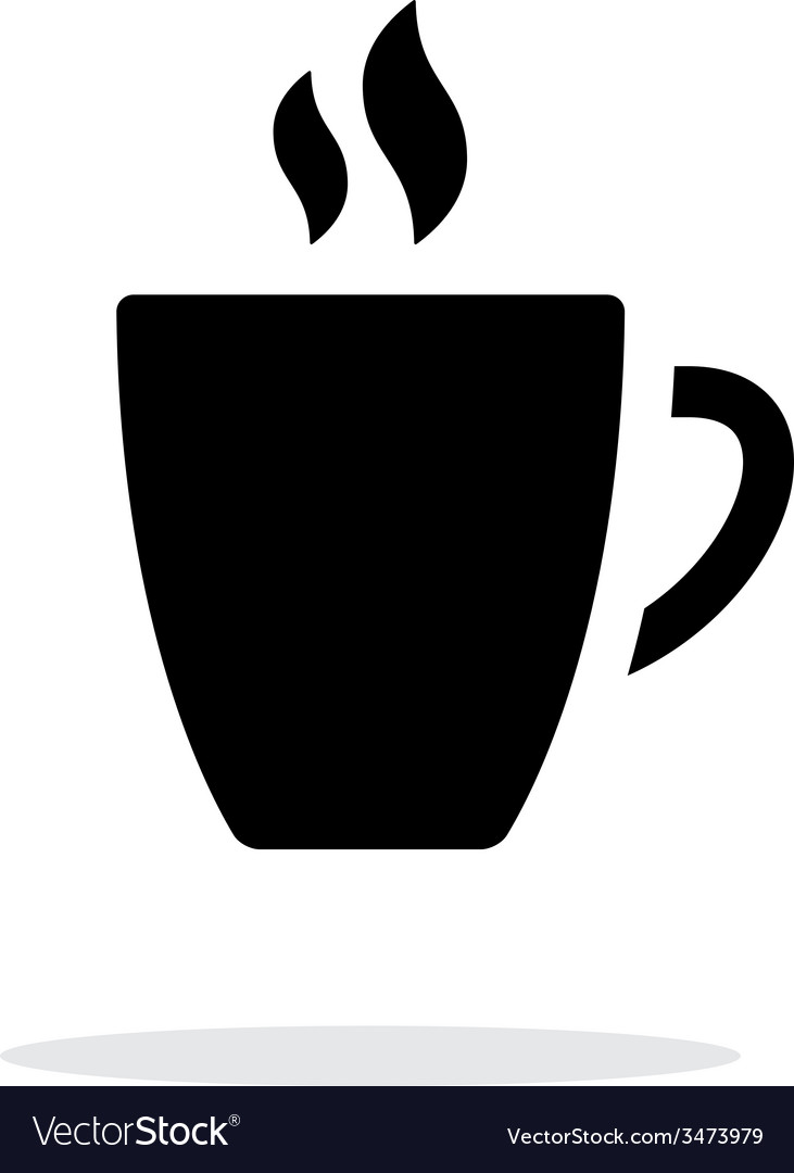 Mug simple icon on white background vector | Price: 1 Credit (USD $1)