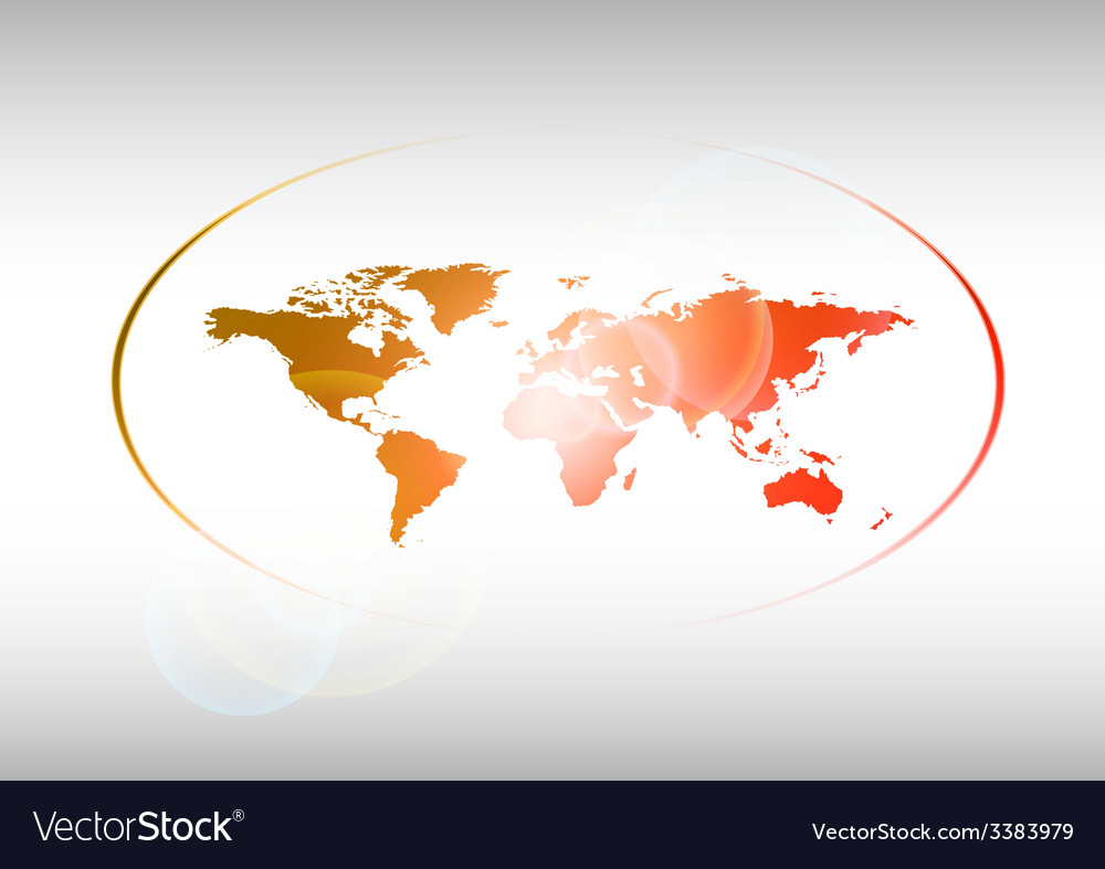 Red world vector | Price: 1 Credit (USD $1)