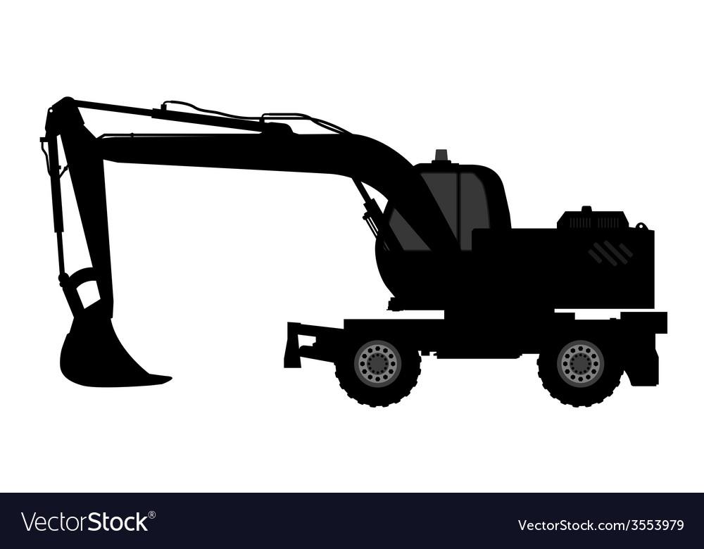 Silhouette the excavate vector