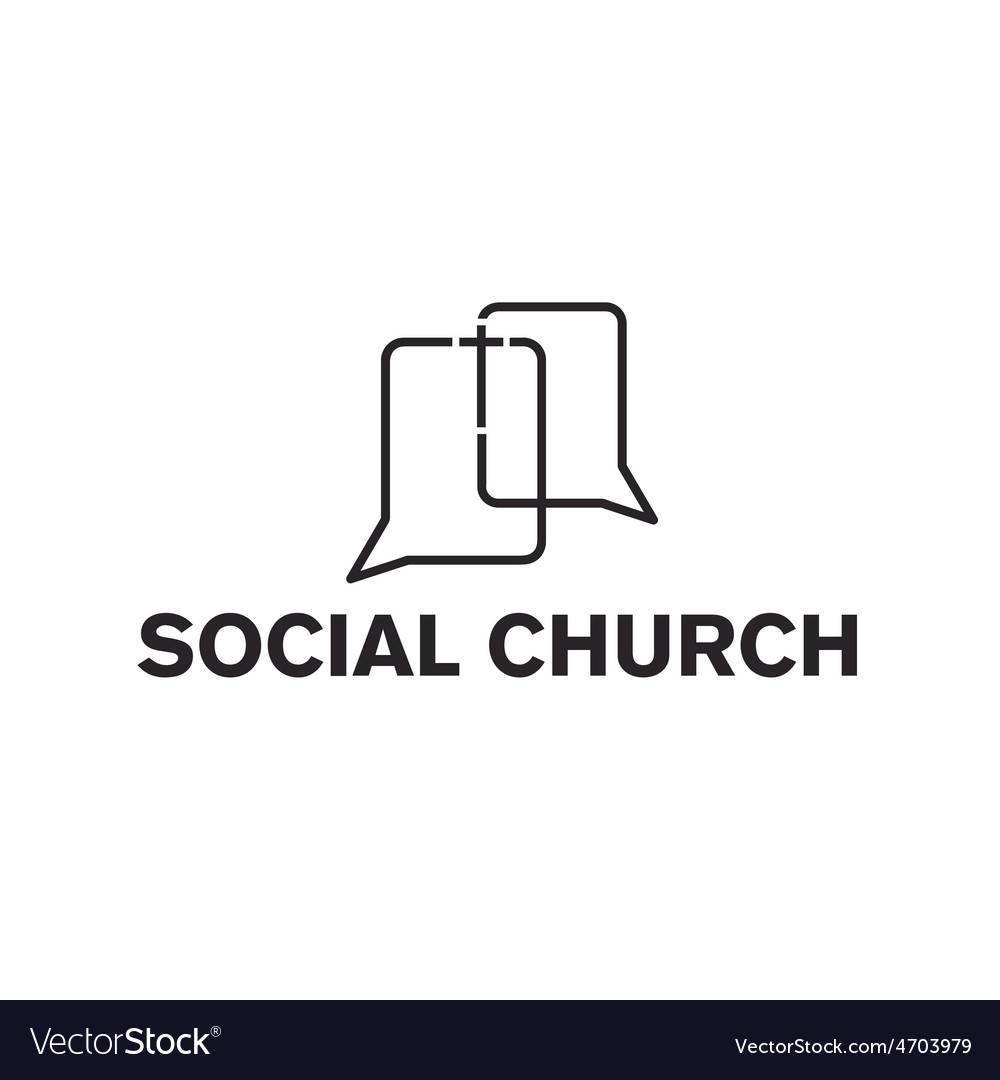Social church design template vector | Price: 1 Credit (USD $1)