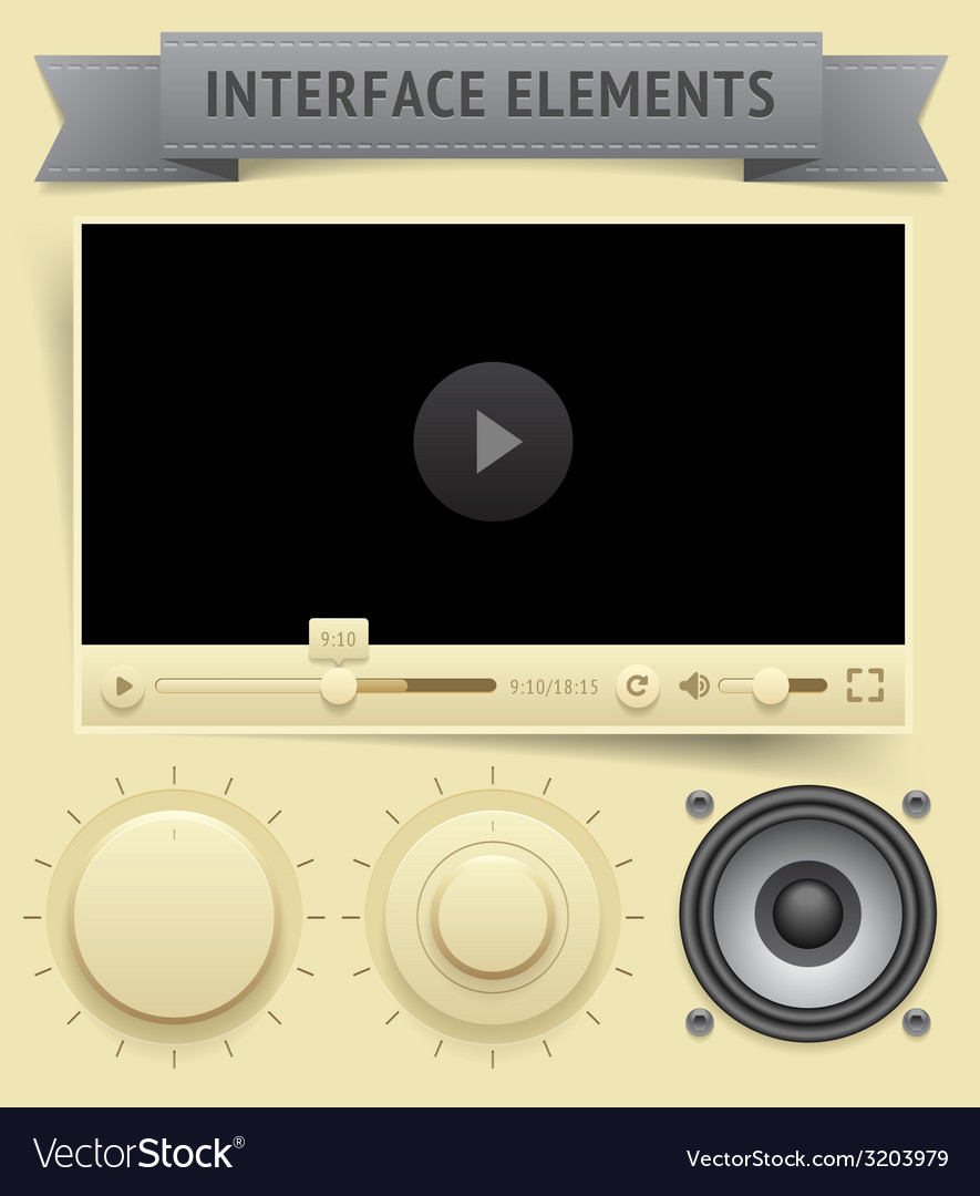 User interface elements vector | Price: 1 Credit (USD $1)