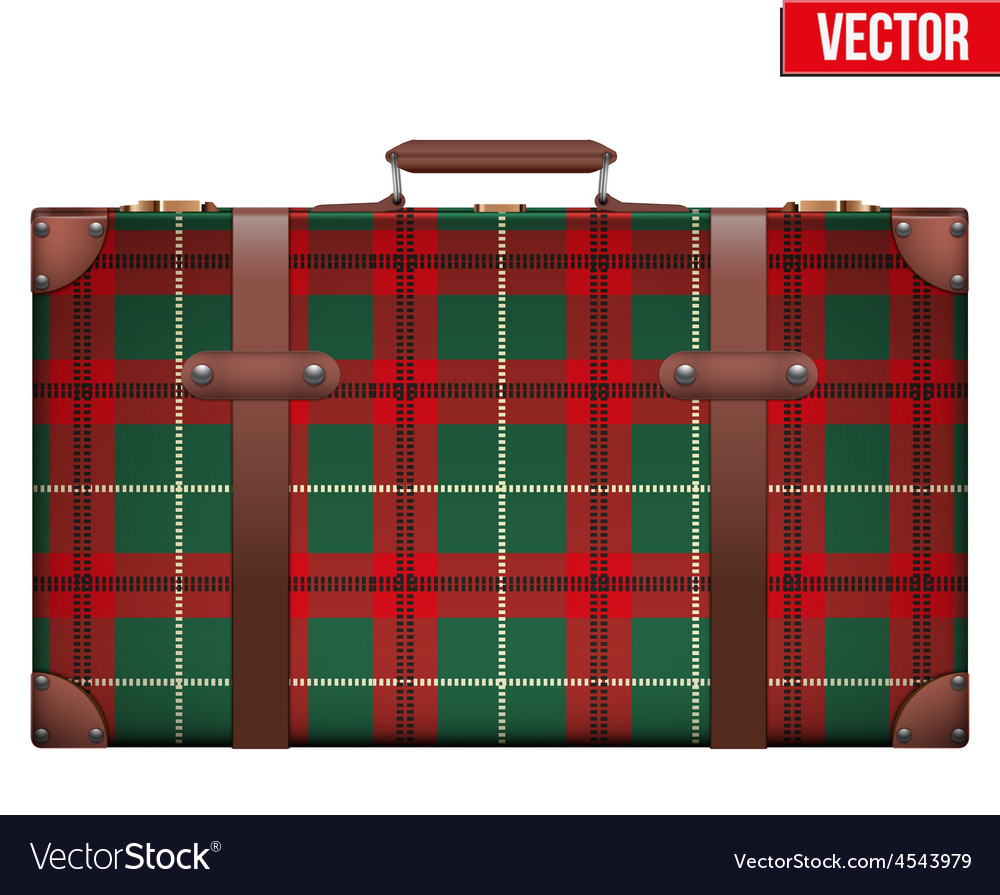 Vintage baggage suitcase for travel vector | Price: 1 Credit (USD $1)