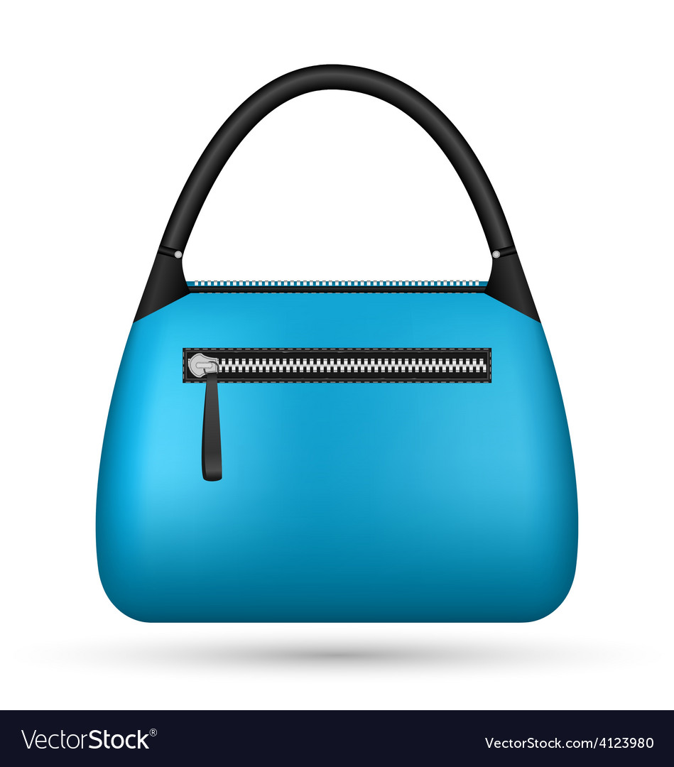Blue woman bag isolated on white vector | Price: 1 Credit (USD $1)